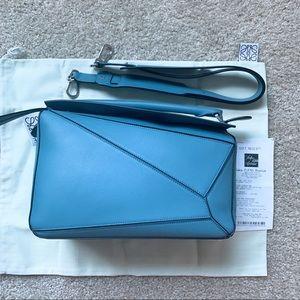 NWT authentic LOEWE medium puzzle bag, blue